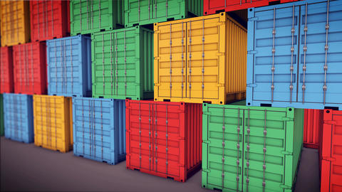Stack of Cargo Containers, Stock Animation