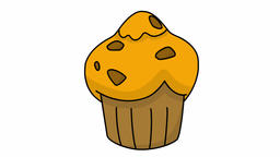 muffin food sketch illustration hand drawn animation transparent Footage