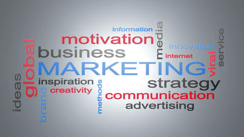 Marketing Business Strategy Word Cloud Text Animation Animation