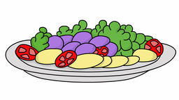 chow dish food sketch illustration hand drawn animation transparent Footage