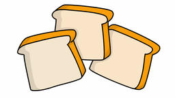bread slice food sketch illustration hand drawn animation transparent Footage