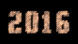 Happy New Year 2016 sign, Alpha PNG Animation
