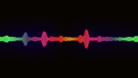 Simple Equalizer Audio Spectrum Color Background Animation