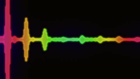 Simple Equalizer Audio Spectrum Color Background, Stock Animation