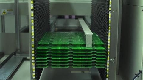 High-Tech Manufacturing Of Circut Board Footage