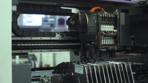 Automated Electronics Parts Manufacturing Line Footage
