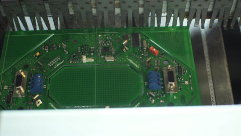 Electronic Boards In A Factory Production Footage