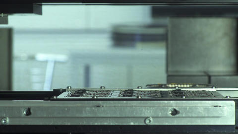 Microchip Circuit Board Manufacturing Footage