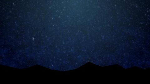 背景映像【星空 1】 CG動画