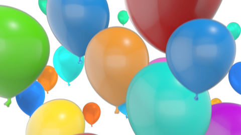 Balloon Transition CG Animation