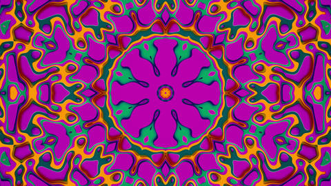Beautiful Kaleidoscope Looping Background With Bright Colors And Depth Animation