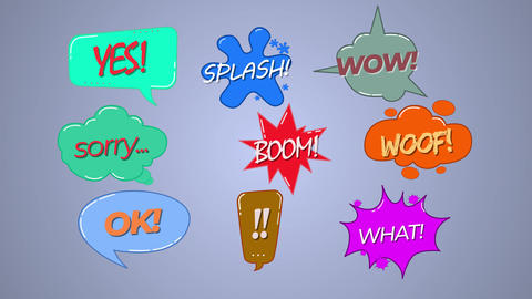 9 speech bubbles Motion Graphics Template