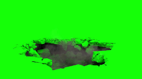 Ground Collapse with Green Screen Animation