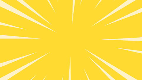 Yellow radial anime line background Animation