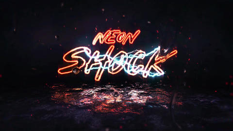 Neon Shock Title/Logo Reveal After Effects Template
