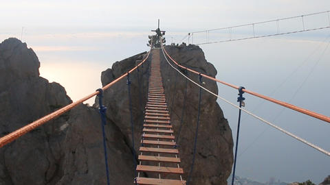 suspension bridge over the precipice Live Action
