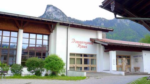 Tourist Information center of Oberammergau - OBERAMMERGAU, BAVARIA - MAY 26 Live Action