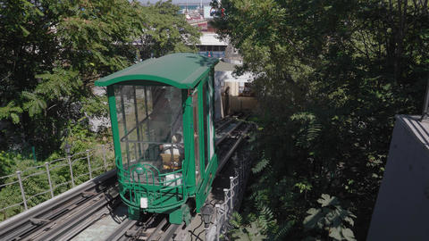 Rope-driven rail transport. Funicular Live Action