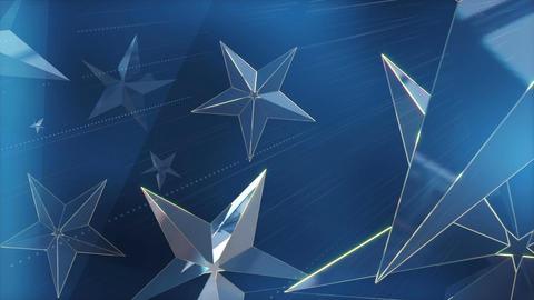 Blue Stars background Loop Stock Video Footage