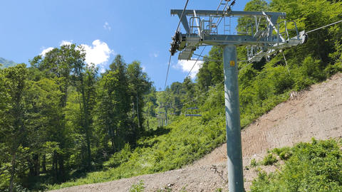 Chair lifts Rosa Khutor. Sochi, Russia Footage