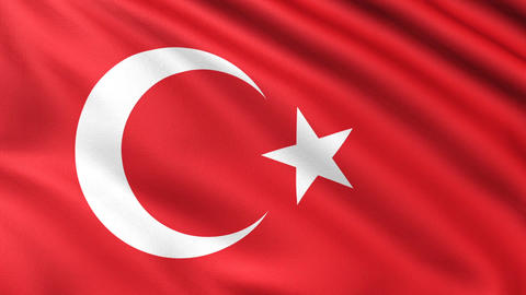 Turkish Flag 4K CG動画素材
