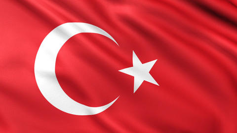 Turkish Flag 4K Stock Video Footage