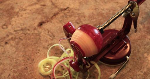 Making homemade apple pie peel DCI 4K 710 Footage