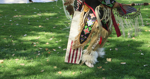 Native American dancer full Indian clothes DCI 4K 579 Footage