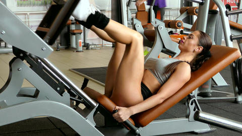 Fitness woman in the gym. Fitness - concept of healthy... Stock Video Footage