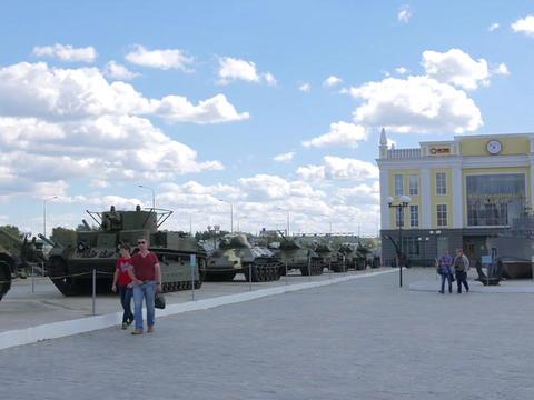 Museum of military equipment Battle Glory of the Urals, Pyshma, Ekaterinburg, Ru Footage