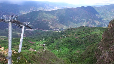 Aerial Tramway in Chicamocha Canyon Footage