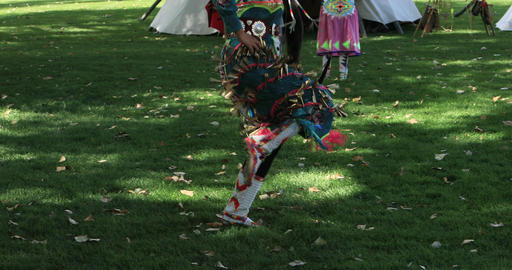 Female dancer Native American dance and music DCI 4K 581 Footage