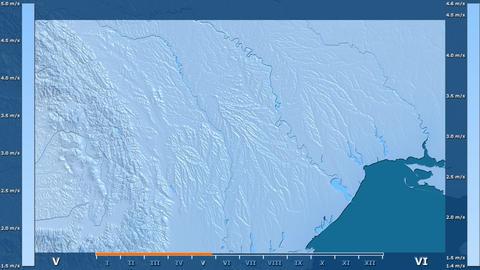 Moldova - wind speed, raw data Animation