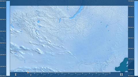 Mongolia - wind speed, raw data Animation