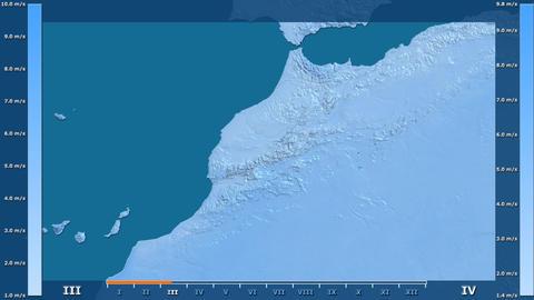 Morocco - wind speed, raw data Animation