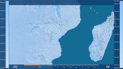 Mozambique - wind speed, raw data Animation