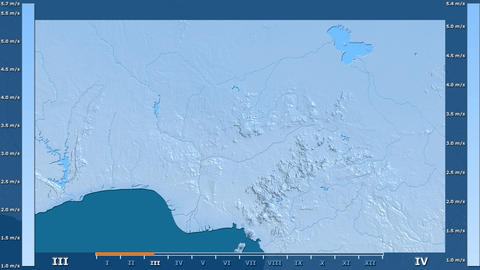 Nigeria - wind speed, raw data Animation