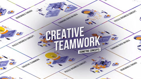 Creative Teamwork - Isometric Concept After Effects Template