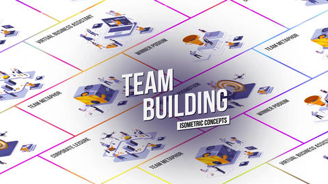 Team Building - Isometric Concept After Effects Template