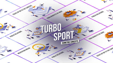 Turbo Sport - Isometric Concept After Effects Template