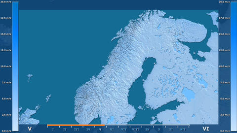 Norway - wind speed, raw data Animation
