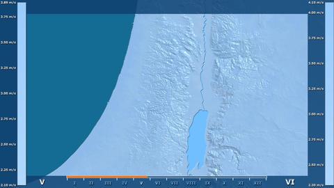Palestina - wind speed, raw data Animation