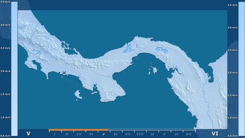 Panama - wind speed, raw data Animation