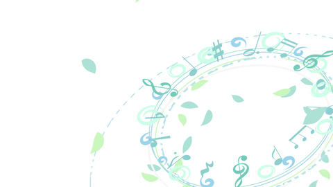 Circular Flowing Leaves - Tilt - Musical Notes Animation
