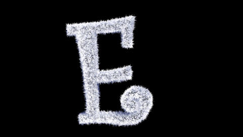 Ice forming frost text typography animation with separate alpha channel E Animation