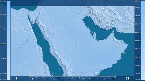 Saudi Arabia - wind speed, raw data Animation