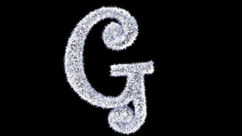 Ice forming frost text typography animation with separate alpha channel G Animation
