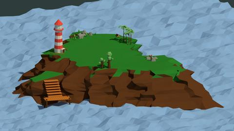 Low Poly Island Pack 3D Model