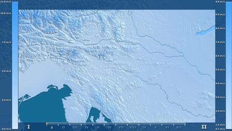 Slovenia - wind speed, raw data Animation