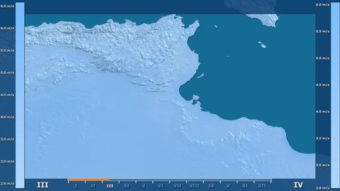 Tunisia - wind speed, raw data Animation